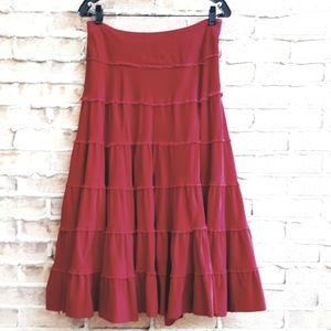 April Cornell Micro Corduroy Tiered Skirt